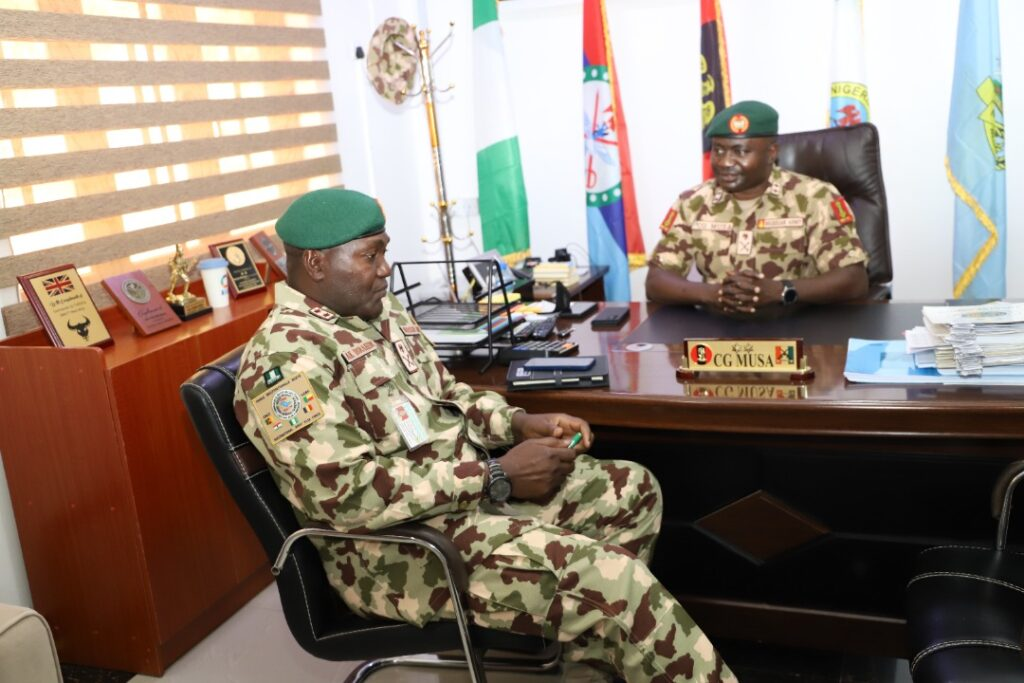 Chadian Chief Of Defence Staff Commends MNJTF Efforts At Tackling Terrorism, Force Commander Visits OP HADIN KAI.